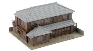 Hip Roof House Pictures Kato 23 482 Dio Town Hip Roof House Ready Built At Topslots N Trains