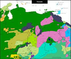 Bonaire Map Venezuela Mapa Lingüístico Linguistic Map