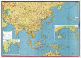 Map Of The Asia by Large Scale Detailed Old Map Of The Far East And Adjoining Areas