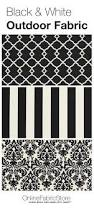 black and white outdoor fabric including damask striped and