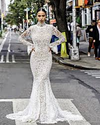 stunning african wedding dresses 2017 high neck guipure lace