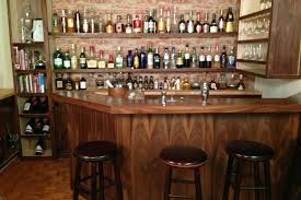 funiture stand wall bar furniture for home made of wood with wine