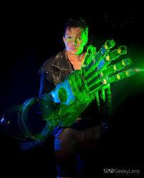 green lantern neon light cool by proxy atomic green lantern arm construct
