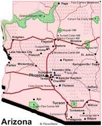 us map arizona state arizona map usa