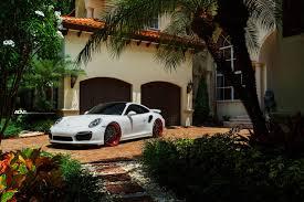 turbo porsche red white porsche 911 turbo s adv7 track spec cs series wheels