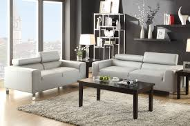 Leather Sofas Sets 2 Pcs Grey Bonded Leather Sofa Set Rooms By Les