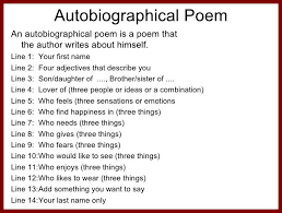 autobiography template format of autobiography an autobiography