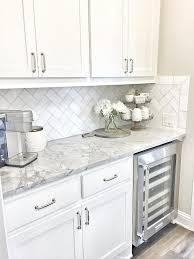 Awesome Butlers Pantry Small Butlers Pantry With Herringbone - Herringbone tile backsplash