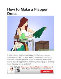 how to make a flapper dress by jane issuu