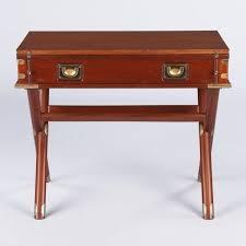 vintage english campaign style mahogany drop leaf writing desk