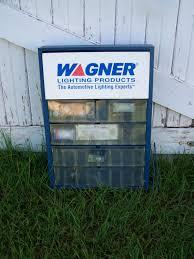 Wagner Lighting Wagner Automotive Lighting Products Display Case Vintage