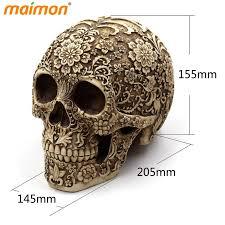 delicate flower skull ornaments horror resin skull bone skeleton