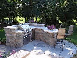 patio grill custom outdoor kitchens patio contemporary with flagstone patio