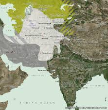 Map Of The World Bc by Map Of Central Asia U0026 India C 200 Bc