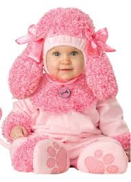 Infant Girls Halloween Costumes Infant Baby Girls Pink Precious Poodle Puppy Dog Halloween Costume