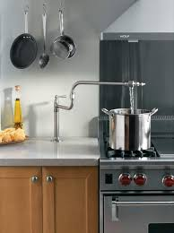 kitchen pot filler faucets magnificent pot filler faucet with gas oven stove and white
