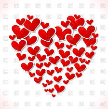big heart of little hearts valentine day vector clipart image