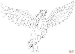 pegasus is taking off coloring page free printable coloring pages