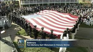 Flag Hoist Signaling Ceremony Marking 200th Anniversary Star Spangled Banner Sep 14