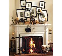 fresh simple fireplace mantle decor 24854