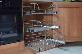 Kitchen Cupboard Interior Storage Pull Out Wire Baskets Kitchen Cabinet Larder Cupboards 300 400 500
