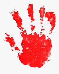 blood red paint blood red paint handprint red paint blood png image and clipart