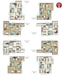 2bhk Plan Typical Floor Plans For Four Seasons The High Rise Apartments In