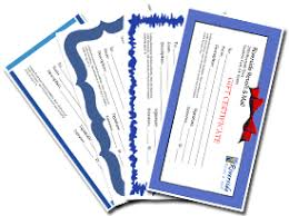 gift certificate templates free blank certificates
