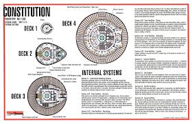 decks 1 through 4 constitution class star trek tech pinterest