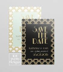 save the date designs great gatsby save the date printable save the date design