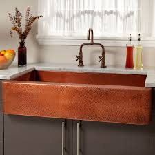 Kitchen Sink Furniture by Rectangle Hammered Copper Sink Signature Hardware