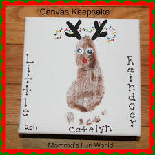 canvas christmas keepsake footprint great gift to make in the