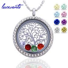 all round necklace images Luowanti 30mm round magnetic closure floating living memory jpg