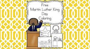 martin luther king coloring preschool kindergarten