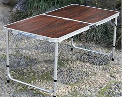 2017 adjustable portable outdoor folding table aluminium alloy