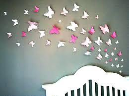 chambre gossip deco murale papillon creative blanc pvc papillon avec aimant 3d