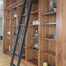 Rolling Ladder Bookcase Custom Steel Rolling Library Ladder By Andrew Stansell Design