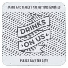 save the date coasters save the date coasters