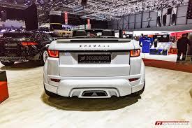 evoque land rover convertible geneva 2017 hamann range rover evoque convertible gtspirit