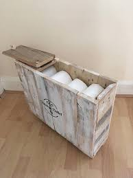Storage Boxes For Bathroom Rustic Shabby Chic Bathroom Storage Box Toilet Roll Pallet