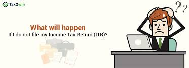 what is a desk return what will happen if i do not file my income tax return itr