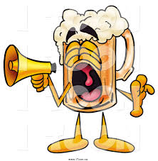 cartoon beer royalty free cartoon of a beer mug character screaming into a