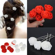 flower hair pins 6pcs women beauty small flower hair pins wedding bridal