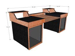 Studio Trends 46 Desk Maple by Omnirax Force 24 Studio Desk Black Musician 39 S Friend Home