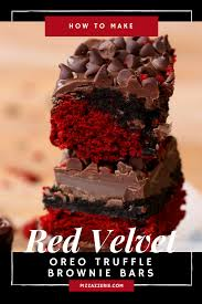 red velvet oreo truffle brownie bars recipe oreo truffle