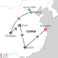 Great Wall Of China On Map by China Vacation Monograms Asia Vacations