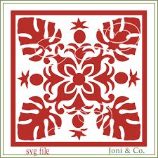 quilt design svg filehawaiian quilt svg glass block svg cut