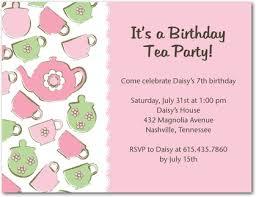 tea birthday party invitations choice image invitation design ideas