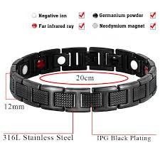 germanium health bracelet images Hottime black bracelet men hand chain energy health germanium jpg