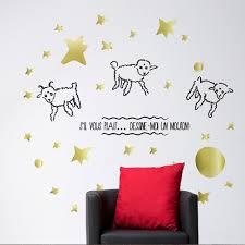 stickers mouton chambre bébé le petit prince stickers dessine moi un mouton 1 chambre d